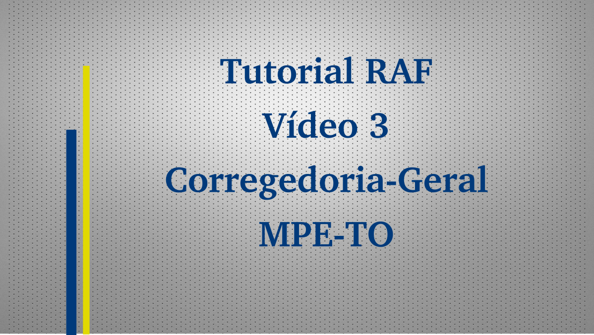 Tutorial RAF - Vídeo 3 de 3